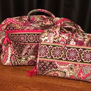 Vera Bradley Hanging organizer & Duffle Bag Set